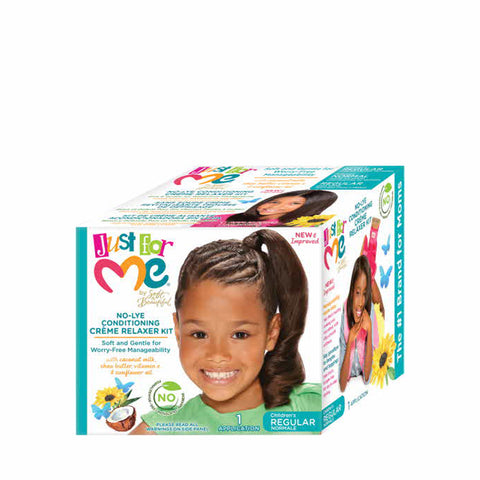 [Just For Me] No-Lye Conditioning Creme Relaxer Kit - Regular - C_Kids & Baby-Hair Care