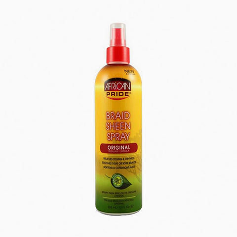 [African Pride] Braid Sheen Spray[Reg] 12Oz - C_Hair Care-Braids & Locs & Twists