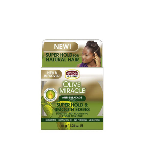 [African Pride] Olive Miracle Silky Smooth Edges 2.25Oz - C_Hair Care
