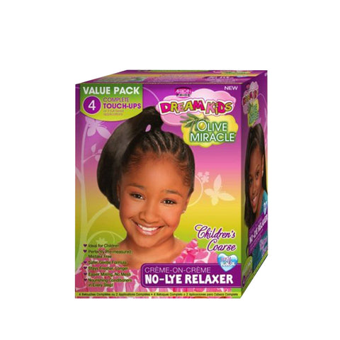 AFRICAN PRIDE DREAM KIDS No-Lye Relaxer [4 Touch-Up]