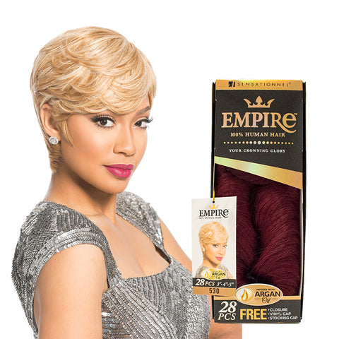 "SENSATIONNEL EMPIRE 100% Human Hair 28pcs 3""-4""-5"""