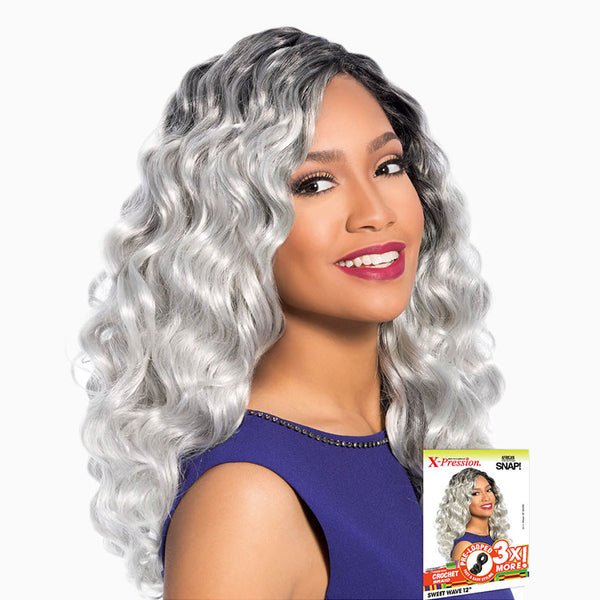 [Sensationnel] African Collection Crochet Braid Snap 3X Pre-Looped Sweet Wave 12 - Braid