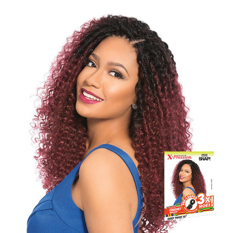 SENSATIONNEL African Collection Crochet Braid SNAP 3X Pre-Looped Deep Twist 12""