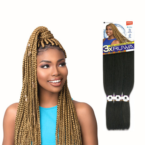 SENSATIONNEL African Collection 3X RUWA Pre-Layered Braid 24""