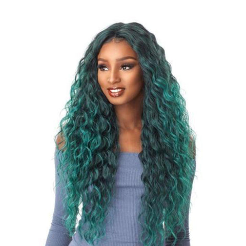 SENSATIONNEL 100% Premium Fiber Lace Front Wig Edge Center Part ANYA
