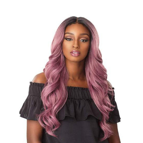 SENSATIONNEL 100% Premium Fiber Lace Front Wig Edge Free Part JOCELYN