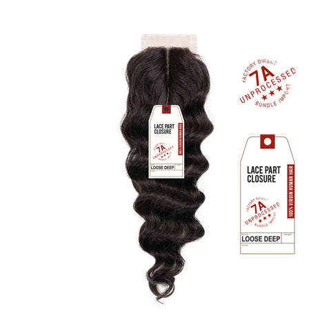 SENSATIONNEL BARE & NATURAL 7A Virgin Remi Lace Closure Loose Deep