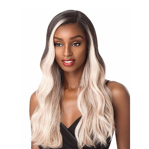 SENSATIONNEL 100% Premium Fiber Lace Front Wig Edge C Part NASHA