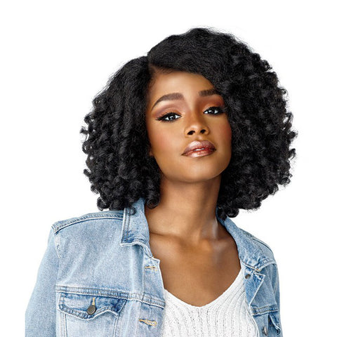 SENSATIONNEL Empress CURLS KINKS & CO Textured Lace Frint Wig ROLE MODEL