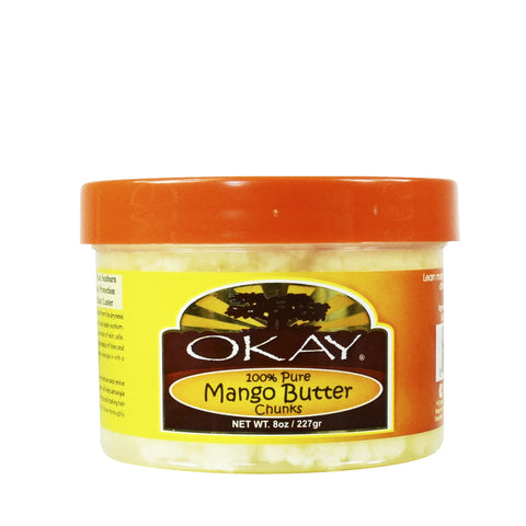 [Okay] 100% Pure Mango Butter Chunks 8Oz - C_Hair Care-Natural Hair Care