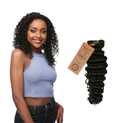 [Laflare] Laflare 100% Unprocessed Brazilian Virgin Remy Hair Bundle New Deep - Weaves