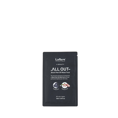 LAFLARE K-Beauty ALL-OUT Black Peel-Off Mask Pack 10ml #LBM10P