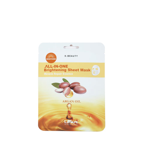 LAFLARE K-Beauty ALL-IN-ONE Brightening Sheet Mask with Argan Oil #LBSM