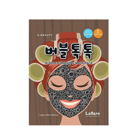 LAFLARE K-Beauty Bubble Charcoal Mask Pack #LBCSM