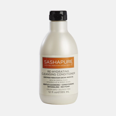 SASHAPURE Re-Hydrating Cleansing Conditioner 12oz