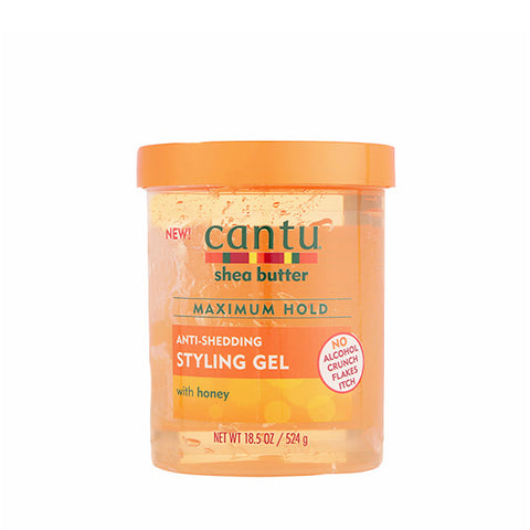 CANTU Shea Butter Maximum Hold Anti-Shedding Styling Gel 18.5 oz