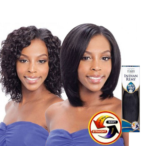 [Shake N Go] Rain Moisture 100% Remy Wet & Wavy Indian Loose 3Pcs - Weaves