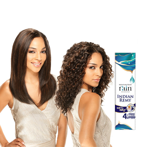SHAKE N GO RAIN Moisture 100% Indian Remy Wet & Wavy 4pcs Loose Deep