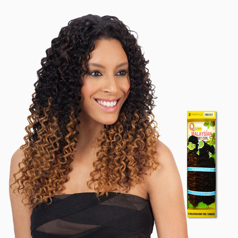 [Shake N Go] Que Malaysian Kinky Curl 7Pcs - Weaves