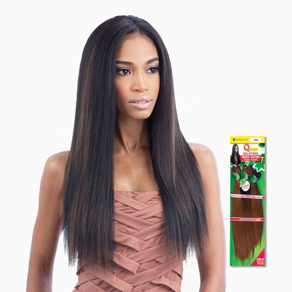 [Shake N Go] Que Malaysian Ironed Texture Straight 7Pcs - Weaves