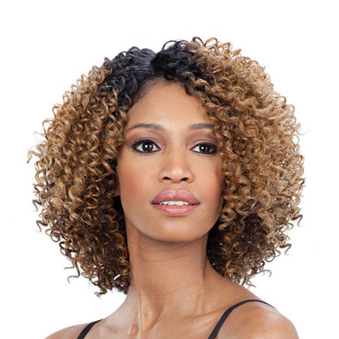 SHAKE N GO Freetress Equal Lace Front Wig Deep Diagonal Part FLOWER BLOSSOM