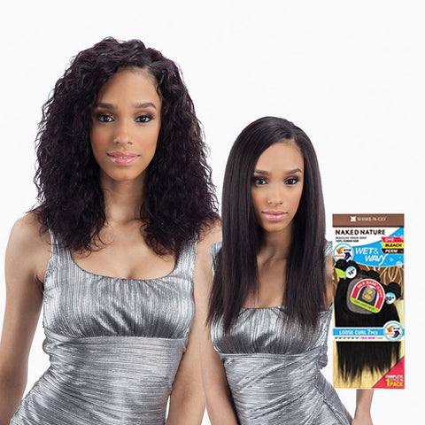 [Shake N Go] Naked Natural Wet & Wavy Loose Curl 7Pcs - Weaves