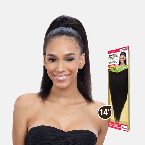 [SHAKE N GO] SAGA Naked 100% Brazilian Virgin Ponytail REMY WIZARD