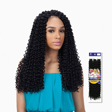 [Shake N Go] Freetress Braid 3X Pre-Loop Crochet Water Wave 16 - Braid