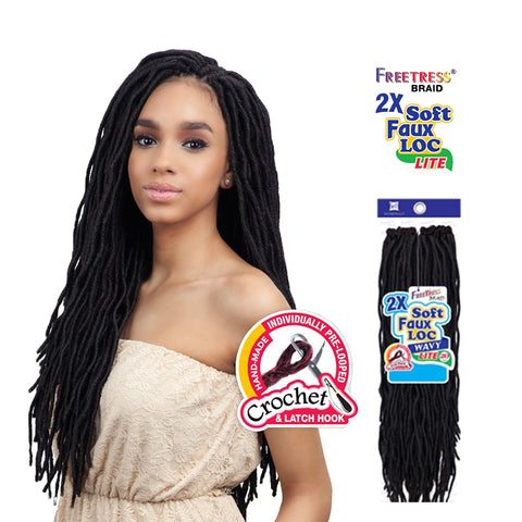 SHAKE N GO FREETRESS Braid 2X Soft Wavy Faux Loc 20""