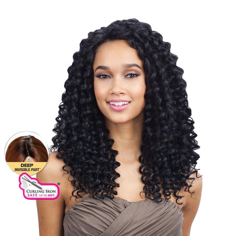 SHAKE N GO EQUAL Deep Invisible Part Lace Front Wig PLUSH CURL