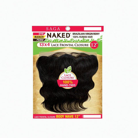 [Shake N Go] Naked Brazilian 100% Virgin Remy 13X4 Lace Frontal Body Wave - Hair Pieces