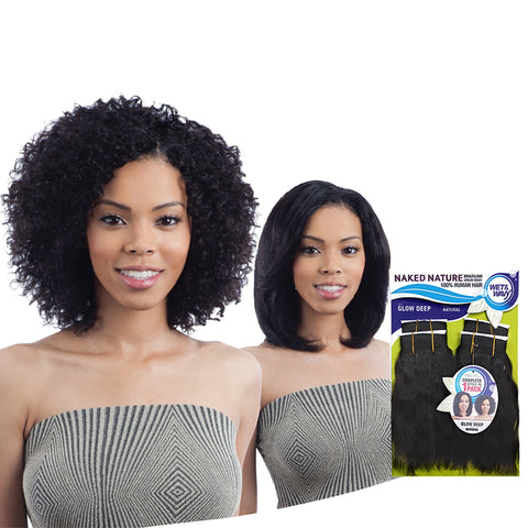 [SHAKE N GO] NAKED Natural Wet & Wavy Glow Deep 4pcs