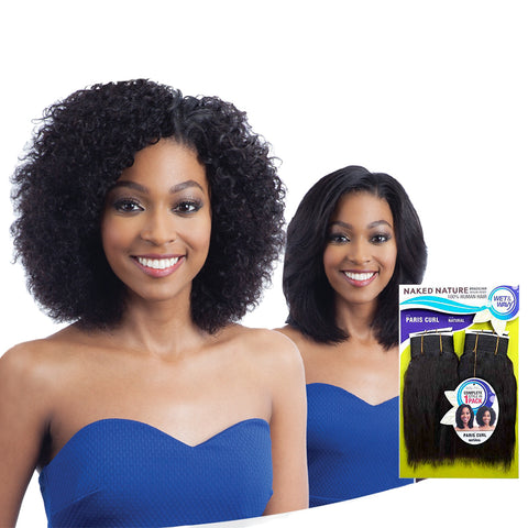 SHAKE N GO NAKED NATURE Wet & Wavy 4pcs Paris Curl