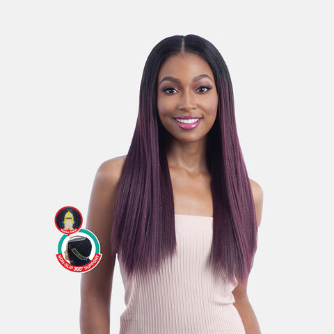 [SHAKE N GO] EQUAL Full Cap Wig OVAL PART LONG STRAIGHT 22""