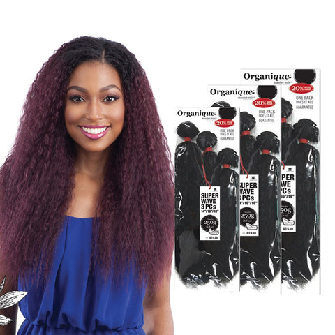 [SHAKE N GO] ORGANIQUE Mastermix Bundle Hair Super Wave 3pcs