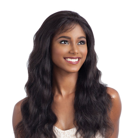 SHAKE-N-GO NAKED 100% BRAZILIAN NATURAL HUMAN HAIR FRONTAL LACE WIG FRONTAL LACE NATURAL WAVY