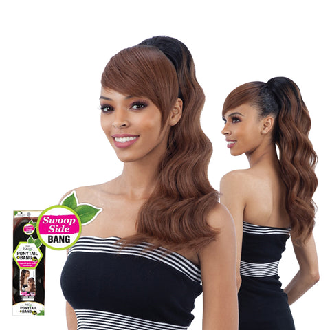 SHAKE N GO FREETRESS Equal Ponytail Loose Deep PONYTAIL & SWOOP SIDE BANG
