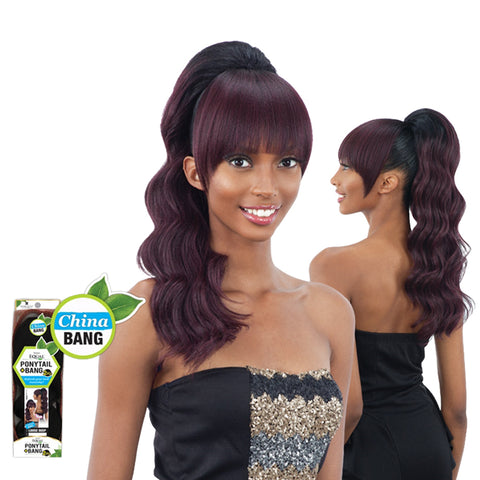 SHAKE N GO FREETRESS Equal Ponytail Loose Deep PONYTAIL & CHINA BANG