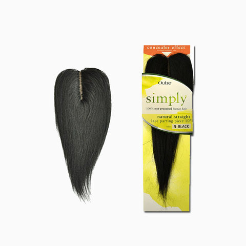 [Outre] Simply Lace Parting Piece - Natural Straight 10 - Hair Pieces