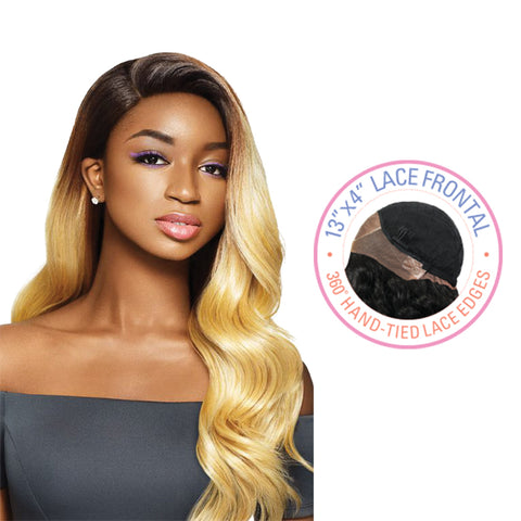 [OUTRE] Human Hair Premium Blend Lace Wig DASHA