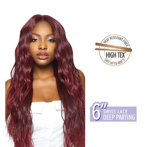 "[OUTRE] 6"" Swiss Lace Deep Parting Wig HALLE"