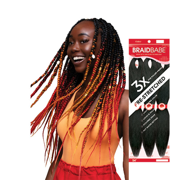 [OUTRE] 3X Pre-Stretched Braid BABE 54""