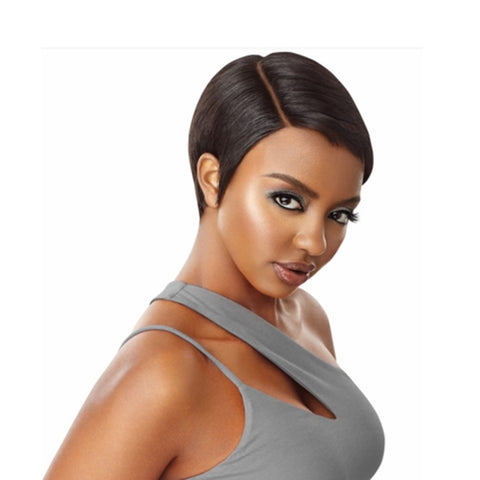 "OUTRE Human Hair Premiun Duby Diamond 6"" Lace Front Wig SOFT PIXIE"