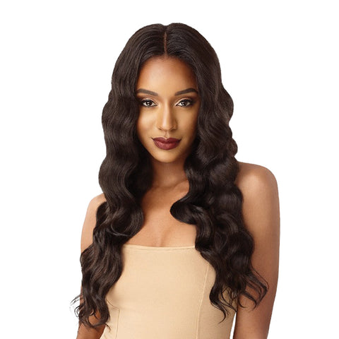 OUTRE &PLAY Human Hair Blend Bundle Edition 360 Lace Wig  Natural Deep Wave