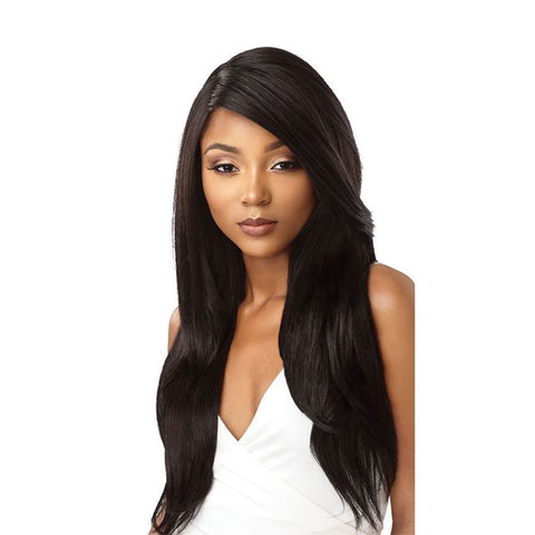 OUTRE &PLAY Human Hair Blend Bundle Edition 360 Lace Wig NATURAL STRAIGHT