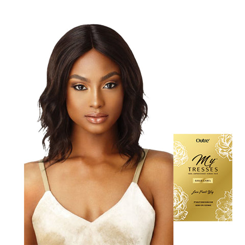 [OUTRE] My Tresses Gold Label Human Hair Lace Front Wig Natural Wave 14""