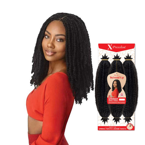 OUTRE X-Pression Twisted Up Springy Afro Twist 16""