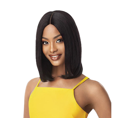 OUTRE Unprocessed Human Hair Lace Part Daily Wig - LAYER BOB 16""