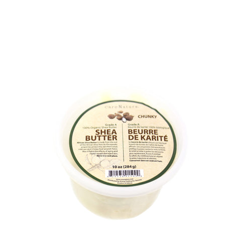 CARENATURA Grade A 100% Organic Shea Butter CHUNKY 10oz