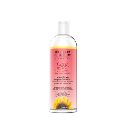 JANE CARTER SOULTIONS CURLS TO GO Untangle Me Weightless Leave-In 8oz
